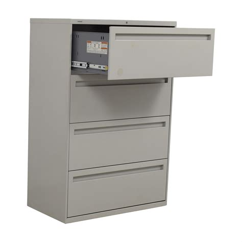 four drawer lateral file cabinet 90 hon hon grey four drawer lateral file cabinet