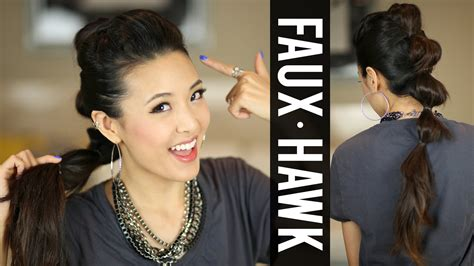 easy going out hairstyles youtube going out hair ponytail fauxhawk tutorial youtube