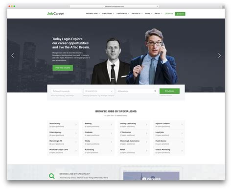 templates for job website 20 best job board themes and plugins for wordpress 2018