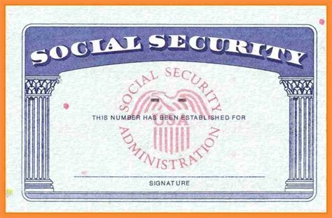 Social Security Card Fill In Template by 7 8 Blank Social Security Card Template Bioexles