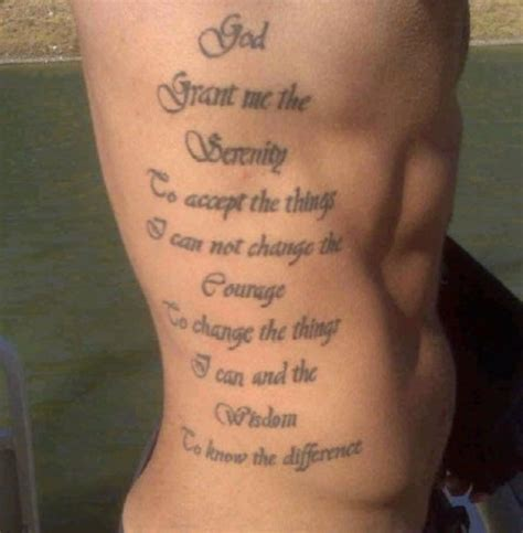 god quotes tattoos 30 devoted serenity prayer tattoos creativefan
