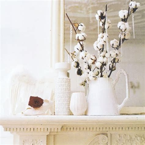 Decorating With Cotton by Fall Decorating With Elements Cotton Branches