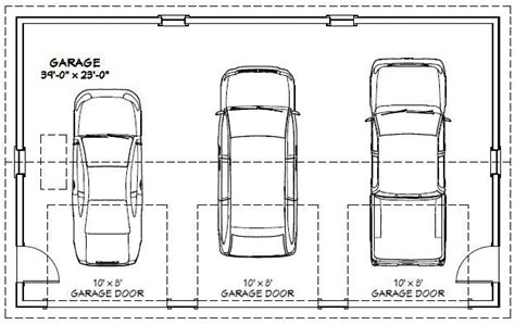 size of a 3 car garage size and layout specifics for a 3 28 3 car garage dimensions building 3 car garage