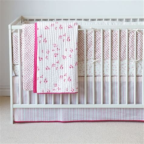 Pink Crib Quilt by Cross Stitch Crib Quilt In Pink By Auggie