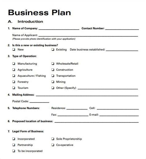 business plan outline template free business plan templates 2016 free business template