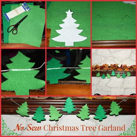 diy no sew felt christmas tree garland making of a mom