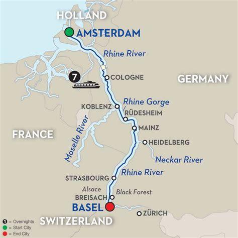 rhine germany map rhine river cruises avalon waterways 174
