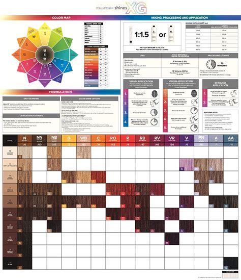 paul mitchell xg color chart shines xg 174 paper chart