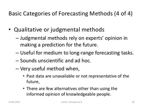 Analogy For Mba Program In Person S by Mba Om 05 Forecasting Foroperations
