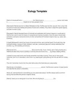 how to write a eulogy template eulogy template 5 free pdf documents free