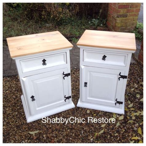 White And Pine Bedside Table 25 B 228 Sta Pine Bedside Tables Id 233 Erna P 229