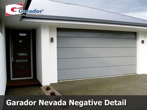 Garador Nevada Negative Detail Garador Auckland Nevada Overhead Door