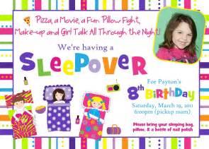 sleepover birthday invitations theruntime
