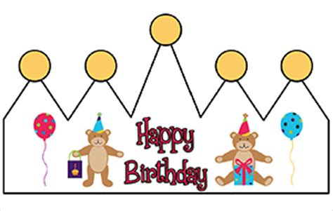 birthday crown template 18 free psd eps in design