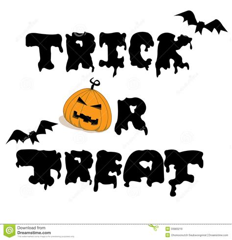 halloween day themes vector for trick or treat royalty free stock images