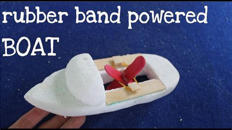 how to make a good paper boat how to make a rubber band powered boat toy boat youtube