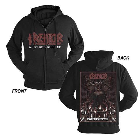 Hoodie Zipper Woven War Logo planet rock world war now zip hoodie kreator
