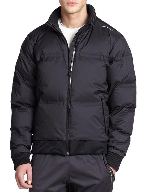porsche design down jacket lyst porsche design bonded down jacket in black for men