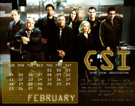 Csi Calendar Csi Calendar 2007 Csi Photo 4386869 Fanpop