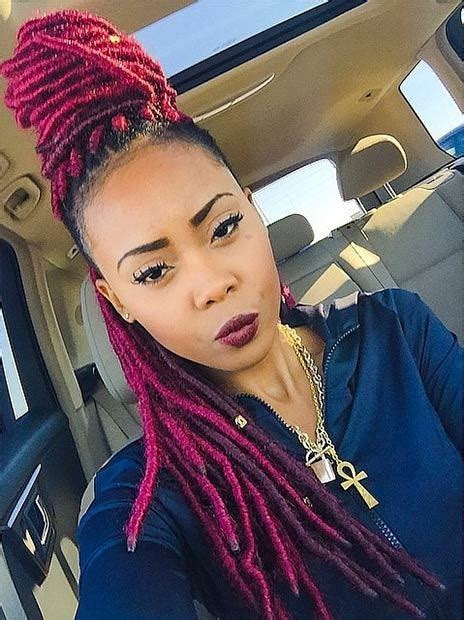 picture half afro half loc 30 best natural faux locs for women who like volume