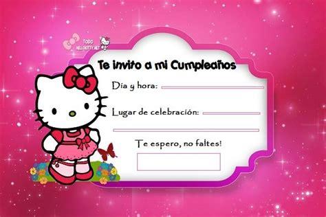imagenes de cumpleaños kitty invitaciones de cumplea 241 os de hello kitty todo hello