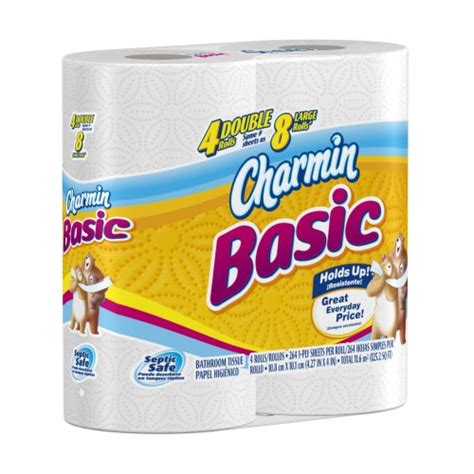 What Company Makes Charmin Toilet Paper - charmin basic toilet paper 4 count pack of 12 2011 07