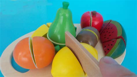 speelgoed uitpakken speelgoed fruit uitpakken toy velcro cutting fruit