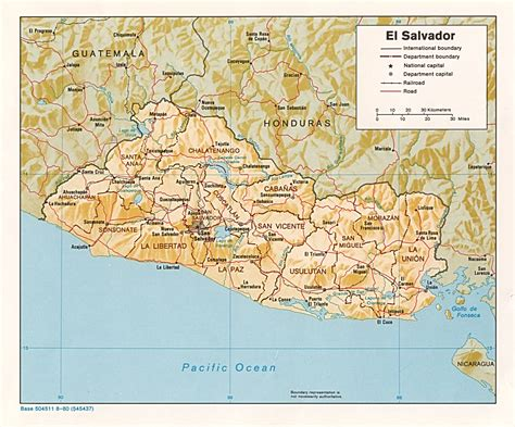 el salvador map el salvador maps perry casta 241 eda map collection ut