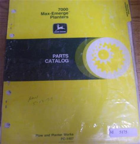 deere 7000 max emerge planter parts catalog manual