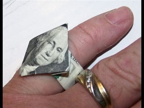 How To Make An Origami Ring - origami money ring moneygami