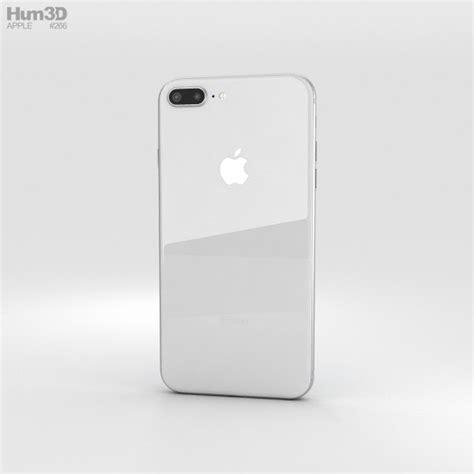 apple iphone 8 plus silver 3d model hum3d