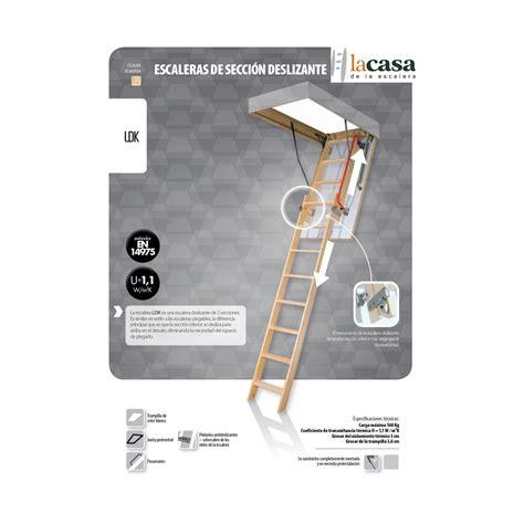 escaleras techo escalera techo escamoteable dos tramos madera