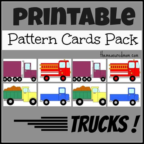 kindergarten pattern unit truck patterns transportation unit construction paper