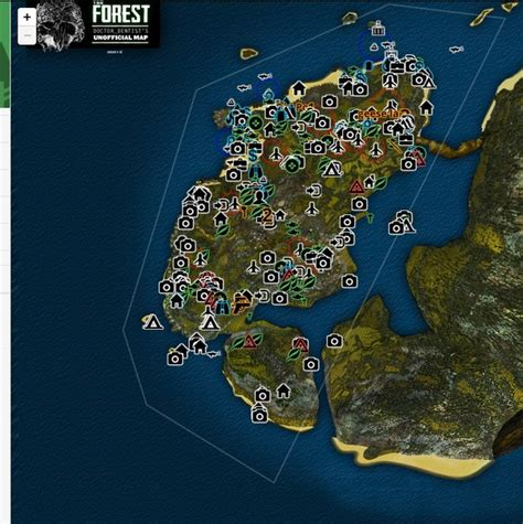 the forest map wall vk