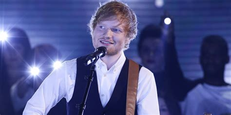 ed sheeran perfect x factor x factor ed sheeran performs new single thinking out
