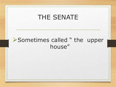 why is the senate called the upper house composition of the legislative department