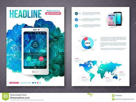 design online mobile flyer or brochure business design template stock vector