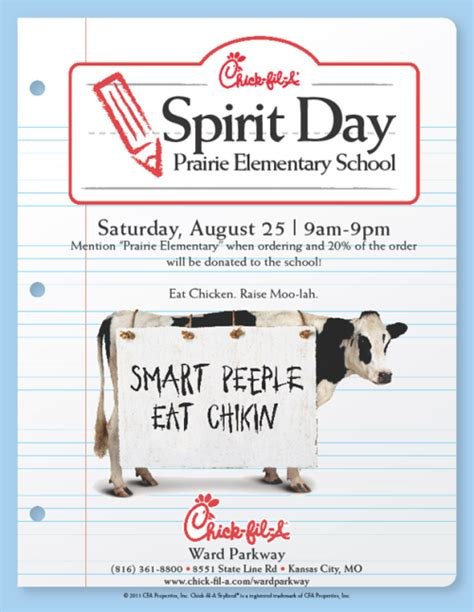 Chick Fil A Spirit Night Fundraisers Flyer Idea Pfa Essentials Pinterest Pta Fundraising Fil A Flyer Template
