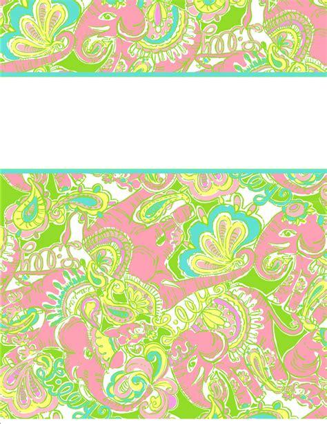 My Cute Binder Covers Happily Hope Lilly Pulitzer Binder Cover Templates