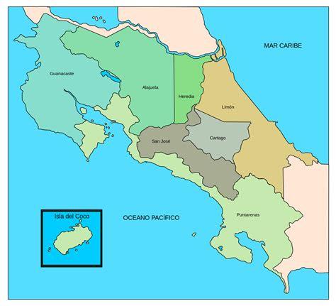 imagenes satelitales costa rica mapa de costa rica con sus departamentos
