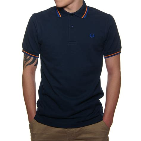 T Shirt Polo Fred Ferry fred perry tipped classic polo shirt in carbon fred perry clothing fred perry footwear