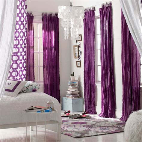 Purple And White Bedroom Curtains by Best 25 Purple Curtains Ideas On Purple Home