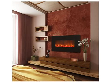 easy and fashionable with a wall mount electric fireplace