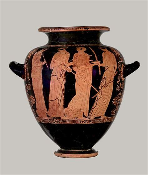 Attic Vase by Stamnos With Lid Attributed To The Menelaos Painter