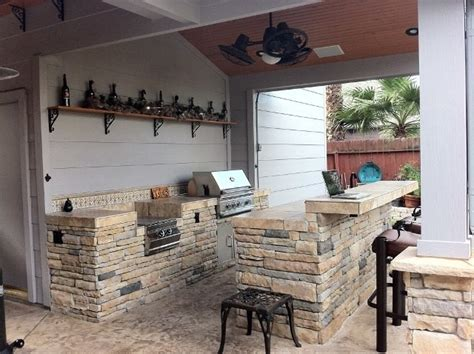 outdoor kitchen backsplash ideas rustic outdoor kitchen spaces with built in grill