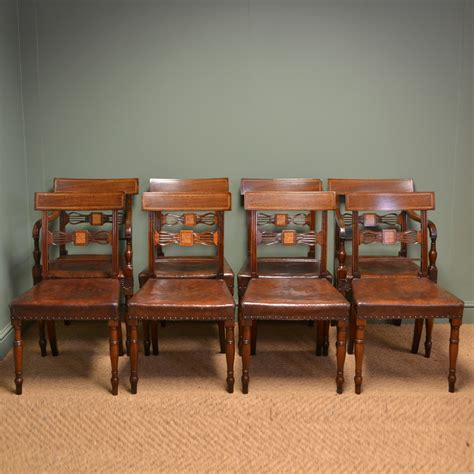mahogany armchair striking set of eight regency antique mahogany dining chairs antiques world