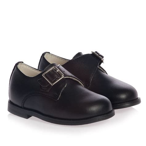 buckle shoes children s classics boys black leather occasion buckle