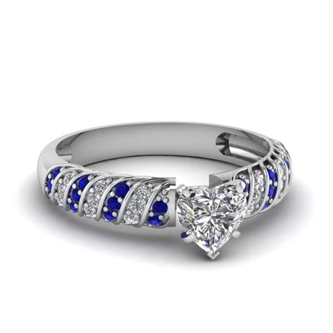 Blue Safir Sapphire 4 2ct rope design engagement ring with sapphire in