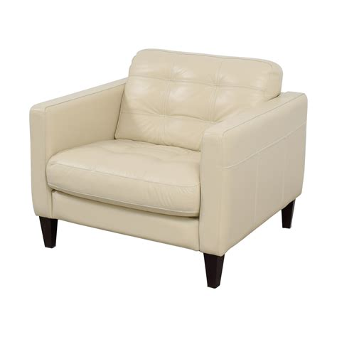 White Leather Accent Chair 48 Macy S Macy S White Leather Tufted Accent Chair Chairs