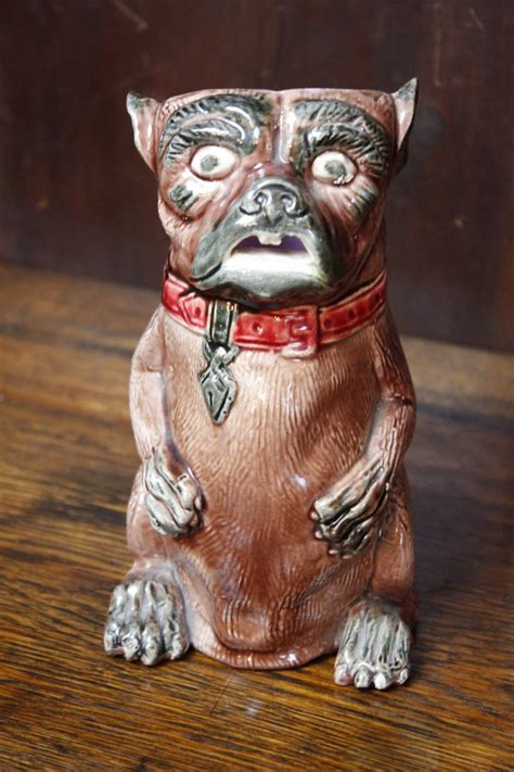 pug jug majolica pug jug 457929 sellingantiques co uk